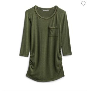 Loveappella olive green maternity knit shirt